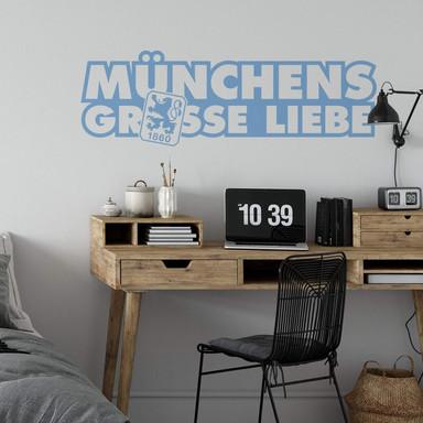 Wandsticker 1860 München Grosse Liebe