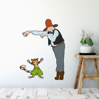 Wandsticker Pettersson und Findus - Petterssons Marionette Findus