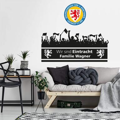 Wandtattoo Eintracht Braunschweig Wir sind Eintracht Wunschtext mit Logo farbig