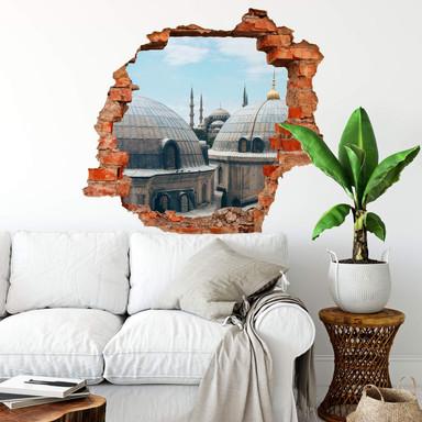 3D Wandtattoo Über den Dächern von Istanbul