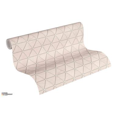 A.S. Création Vliestapete Authentic Walls 2 Tapete geometrisch metallic, rosa, grau