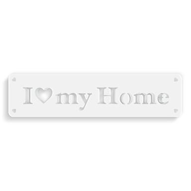 Dekobuchstaben 3D-Anhänger -I Love My Home-