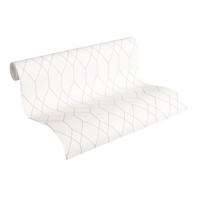 Esprit Home Papiertapete Eco of Nature lila, weiss