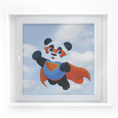 Fensterdekor Super-Panda
