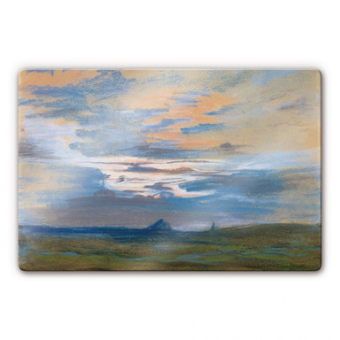 Glasbild Delacroix - Himmelsstudie bei Sonnenuntergang