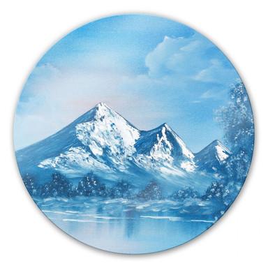 Glasbild Toetzke - Alpsee in den Bergen - rund