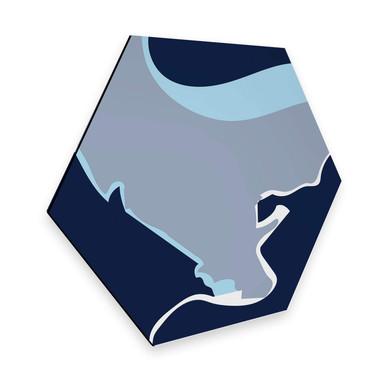 Hexagon - Alu-Dibond Nordic Creators - Abstract Blue