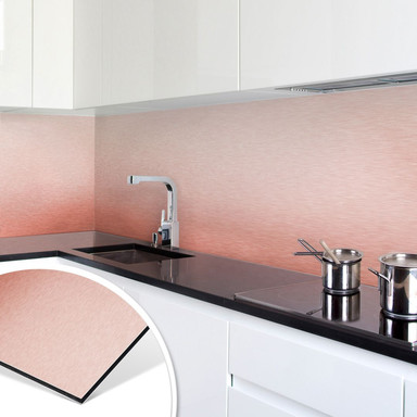 Küchenrückwand - Alu-Dibond-Kupfereffekt