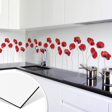 Küchenrückwand Disher - Mohnblumen