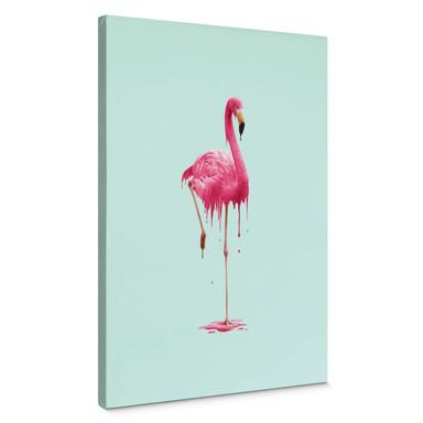Leinwandbild Loose - Melting Flamingo