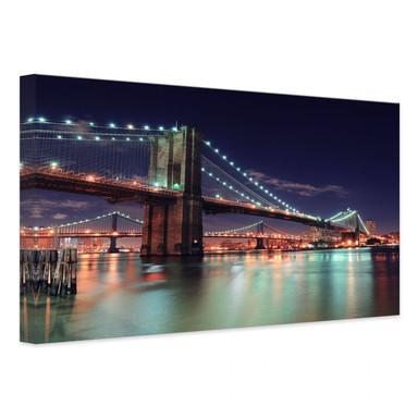 Leinwandbild Manhattan Bridge at Night 2