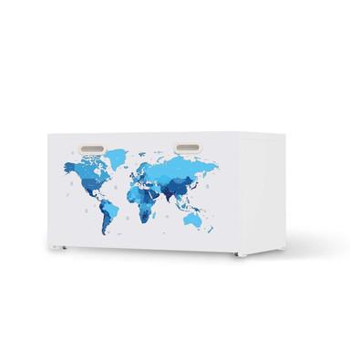 Möbelfolie IKEA Stuva / Fritids Bank mit Kasten - Politische Weltkarte