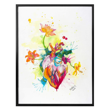 Poster Buttafly - Nature Beating Heart