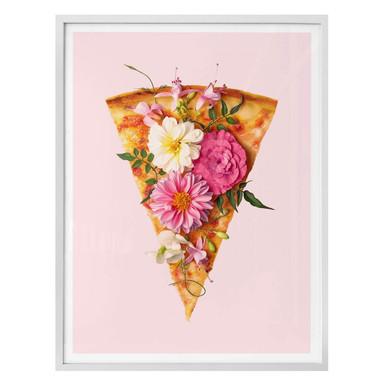 Poster Fuentes - Pizza und Blumen
