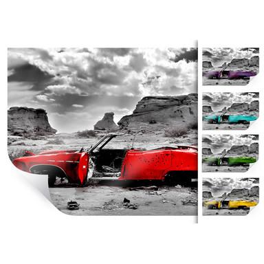 Poster Roter Cadillac