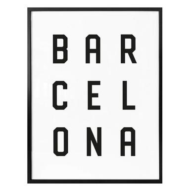 Poster - Typographie Barcelona