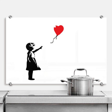 Spritzschutz Banksy - Girl with the red ballon