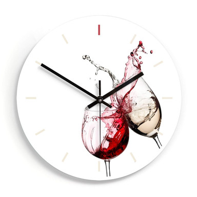 Wanduhr aus Glas - Weingläser Ø30cm - Bild 1