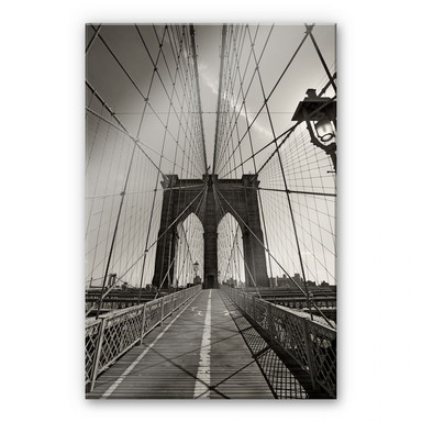 Acrylglasbild Brooklyn Bridge Perspektive