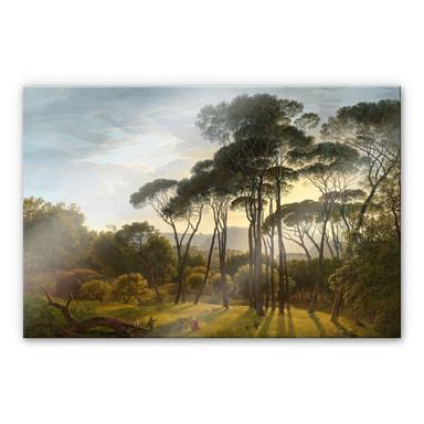 Acrylglasbild Voogd - Italienische Landschaft mit Schirmkiefern