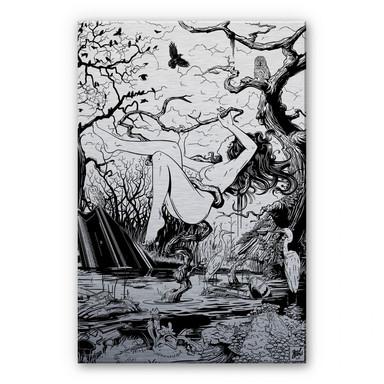 Alu Dibond-Silbereffekt - Drawstore - Swampland