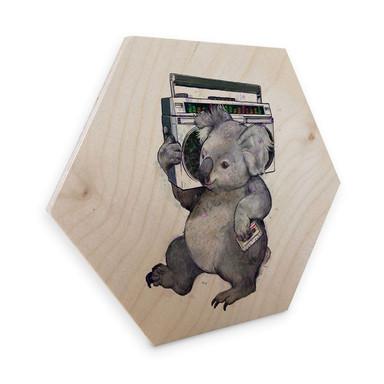 Hexagon - Holz Birke-Furnier Graves - Music Koala