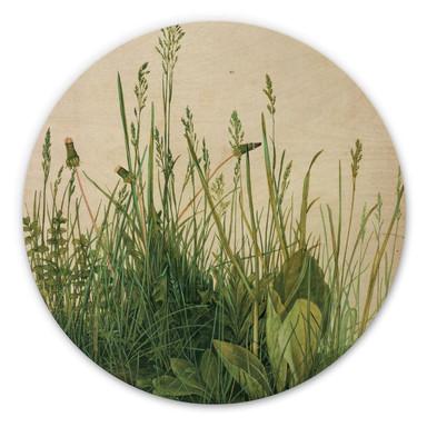 Holzbild Dürer - Das grosse Rasenstück - Rund