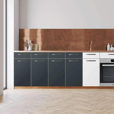 Küchenfolie - Unterschrank 160cm Breite - Blaugrau Dark