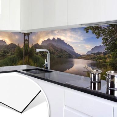 Küchenrückwand Cuadrado - Paradise Pond
