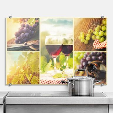 Spritzschutz Wein Collage
