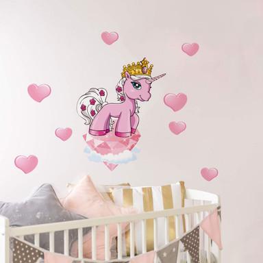 Wandsticker Filly Unicorn Romance Rose