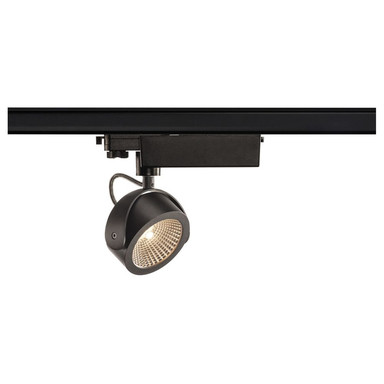 3-Phasen LED Schienenspot Kalu, dimmbar, schwarz, 60°