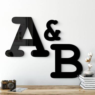 Acrylbuchstaben - Einzelbuchstaben Courier