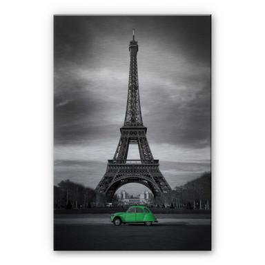 Alu-Dibond Bild La Vie est Belle - grün