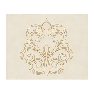 Architects Paper besticktes Panel Nobile creme, metallic