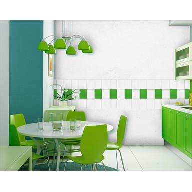 Folienfarbe in Wohnansicht: gelbgrün - Fliesenaufkleber Mono 10er Set