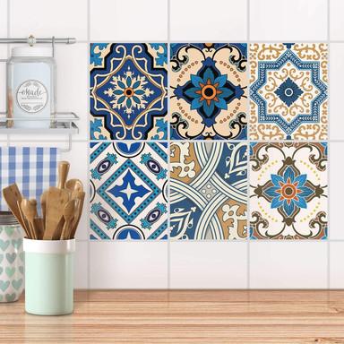 Fliesenaufkleber Set rechteckig - Lisboa Azulejos