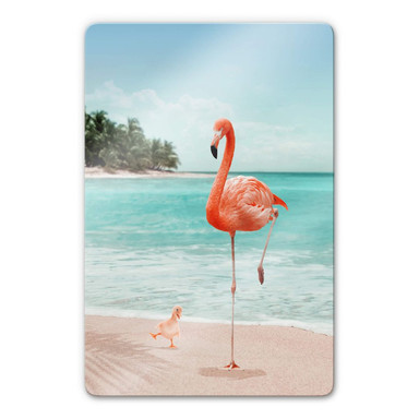 Glasbild Loose – Wannabe Flamingo