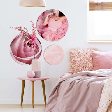 Glasbild Love is everything - rund (3-teilig) - Bild 1