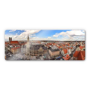Glasbild Münchener Skyline Panorama