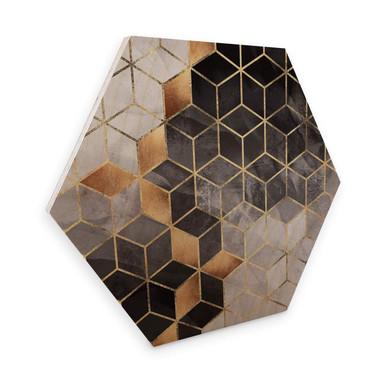 Hexagon - Holz Birke-Furnier Fredriksson - Smoky Cubes