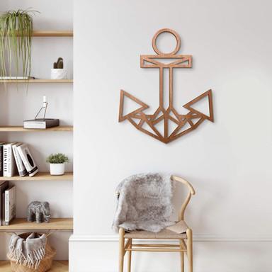 Holzkunst Mahagoni - Origami Anker