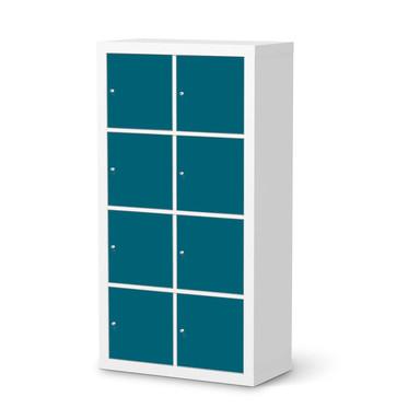 Klebefolie IKEA Expedit Regal 8 Türen - Türkisgrün Dark- Bild 1