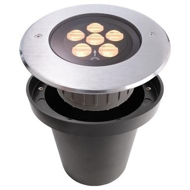 LED Bodeneinbaustrahler Hp IV WW Nicht Dimmbar in Silber und Transparent 13W 709lm IP67