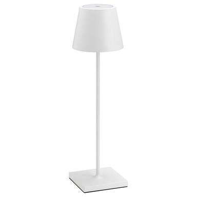 LED Tischleuchte aus Aluminium in Weiss