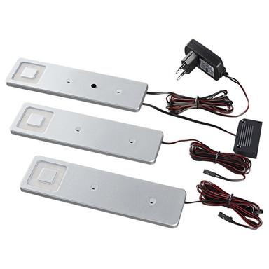 LED Unterbauleuchte Imola in Silber 3x 2.1W 390lm Starterset