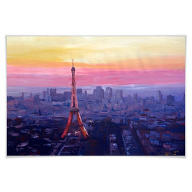 Poster Bleichner - Pariser Eiffelturm in der Abenddämmerung