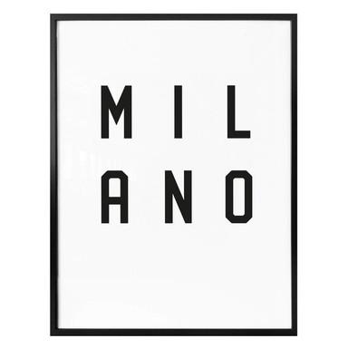 Poster - Typographie Milano