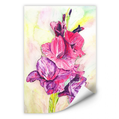 Wallprint Toetzke - Gladiolen Bouquet in Violett
