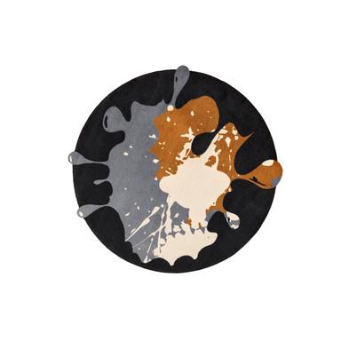Wash&Dry Decor Fussmatte Circle Blob black rund 150cm